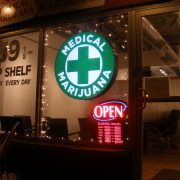 a medical marijuana dispensary storefront