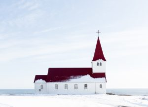 a church in a snowy scene, there are michigan marijuana regulations regarding proximity to churches