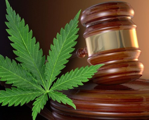 a marijuana leaf and a judge's gavel, the Cole Memo affects federal legal action on marijuana
