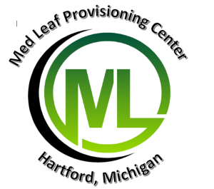med leaf provisioning center logo a green circle with M and L letters in the center